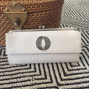 VINTAGE White Patent Leather Wallet